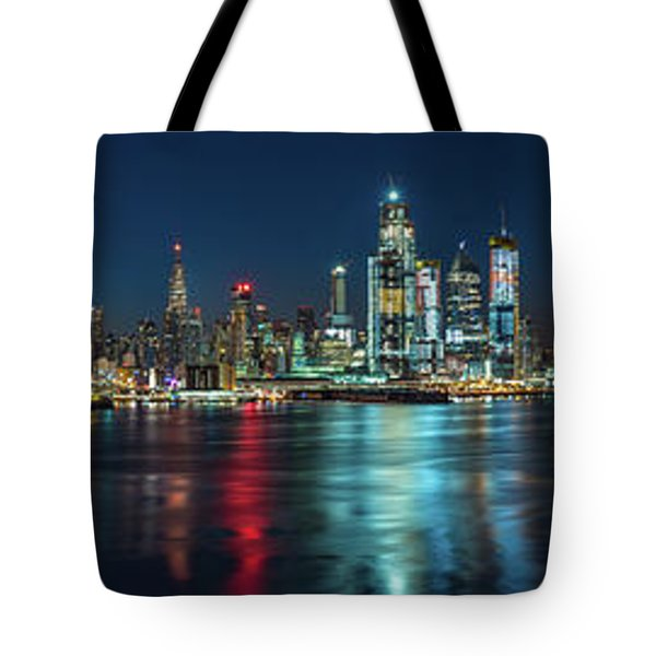 Tote Bag featuring the photograph Panoramic Skyline-manhattan by Francisco Gomez