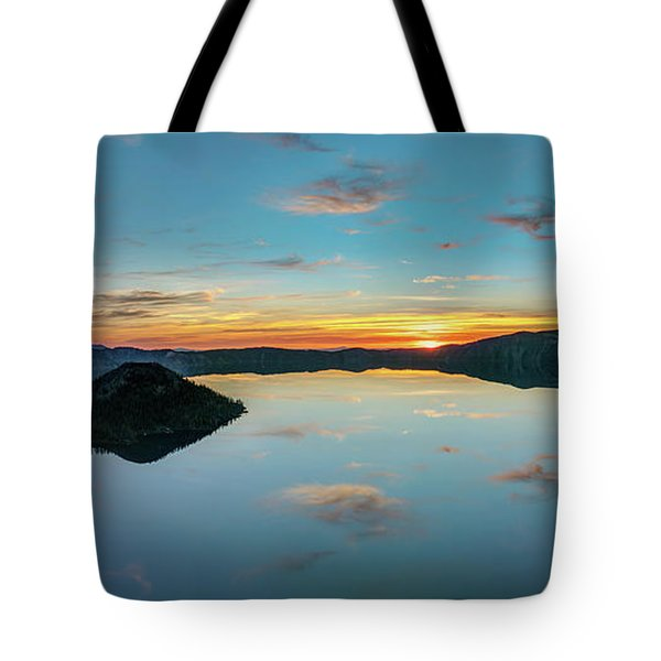 Tote Bag featuring the photograph Panoramic View Of Crater Lake by Pierre Leclerc Photography