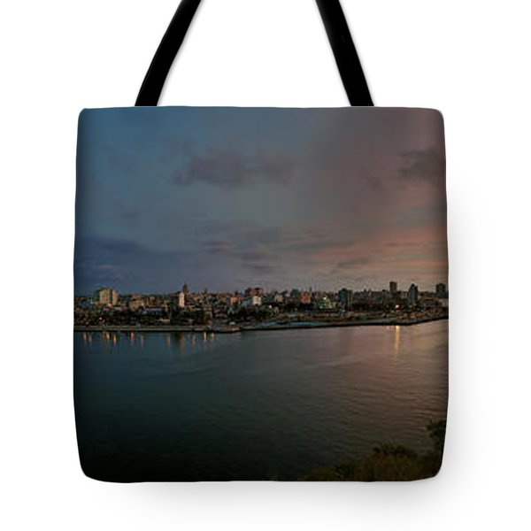 Panoramic View Of Havana From La Cabana. Cuba Tote Bag