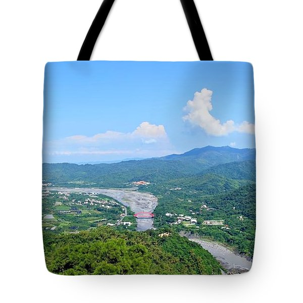 Tote Bag featuring the photograph Panoramic View Of Southern Taiwan by Yali Shi