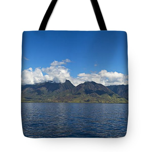 Panoramic West Maui Tote Bag by Dave Fleetham - Printscapes