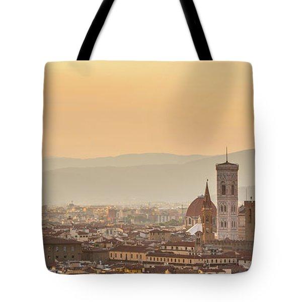 Panorama Of Florence Tote Bag