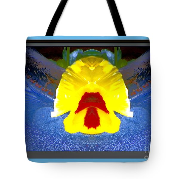 Pansey 1 Tote Bag by Shirley Moravec