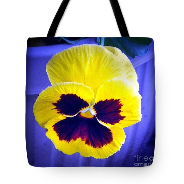Pansey 2 Tote Bag by Shirley Moravec