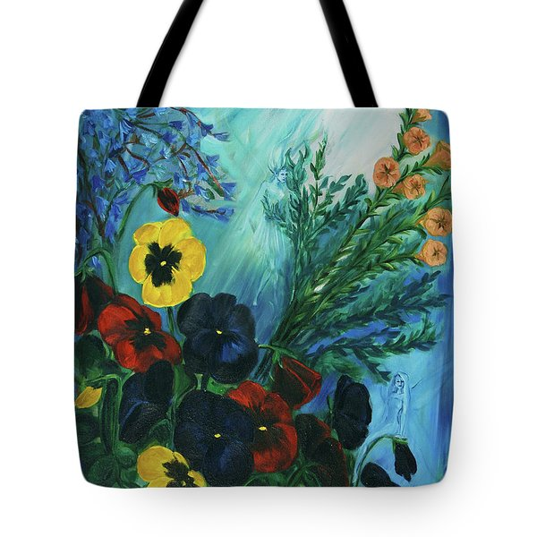 Pansies And Poise Tote Bag by Jennifer Christenson