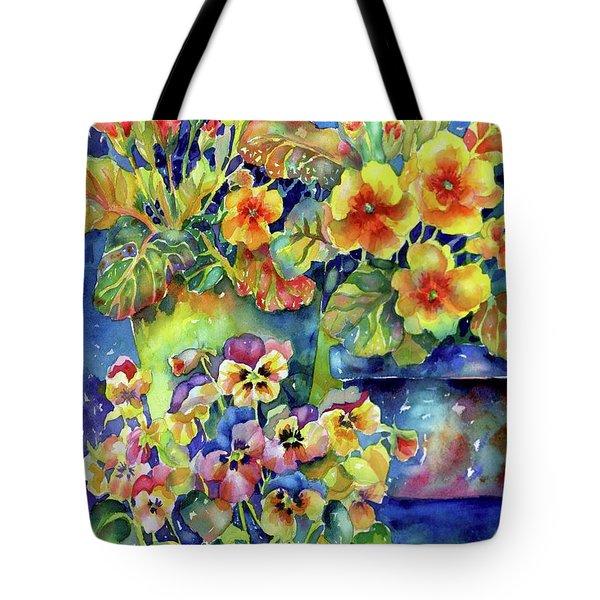 Pansies And Primroses Tote Bag
