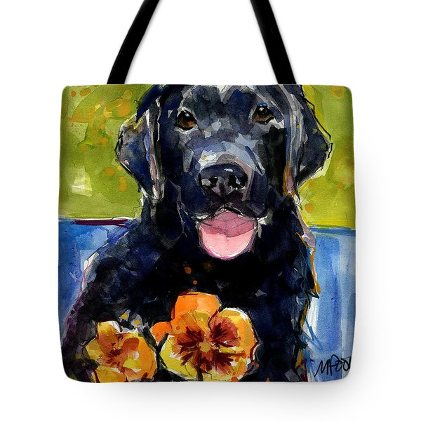 Pansies Tote Bag by Molly Poole