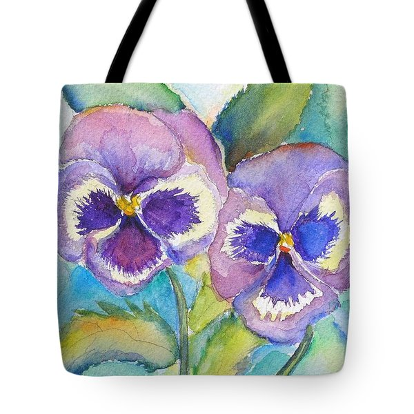 Pansies Tote Bag by Patricia Piffath