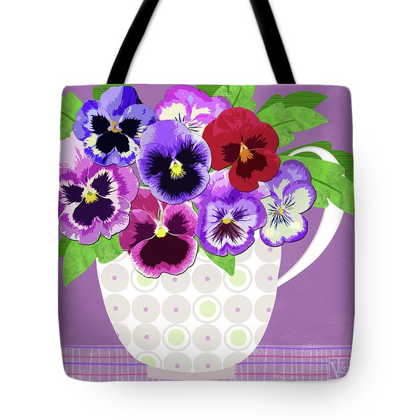 Pansies Stand For Thoughts Tote Bag