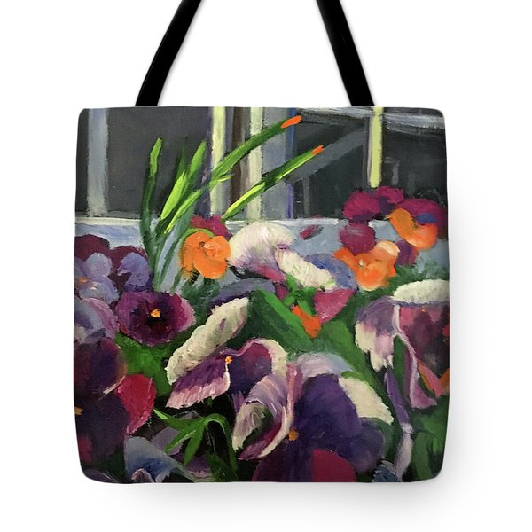 Pansy Frenzy Tote Bag