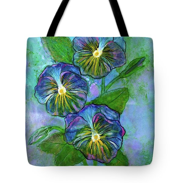 Pansy On Water Tote Bag