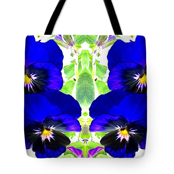 Tote Bag featuring the photograph Pansy Pattern by Marianne Dow