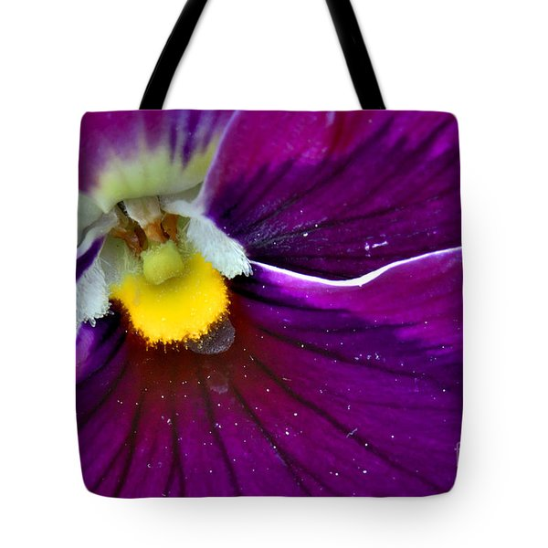 Pansy With Pollen Tote Bag