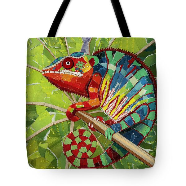 Panther Chameleon Tote Bag by Shawna Rowe