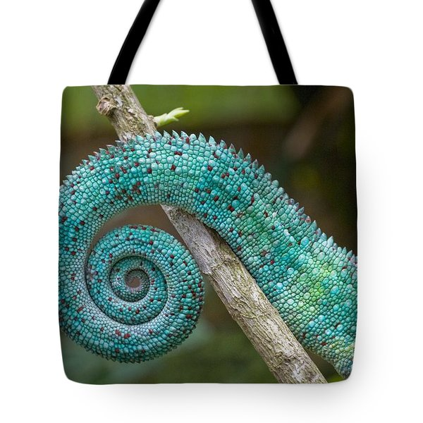 Panther Chameleon Tail Tote Bag by Philippe Psaila and Photo Researchers