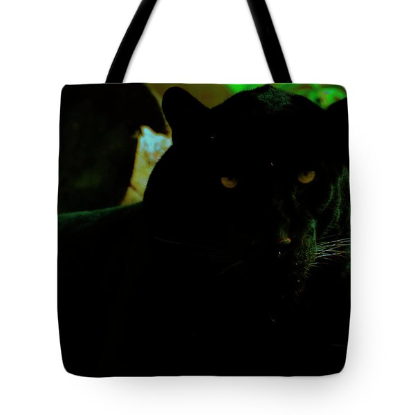 Tote Bag featuring the photograph Panther by Chris Flees