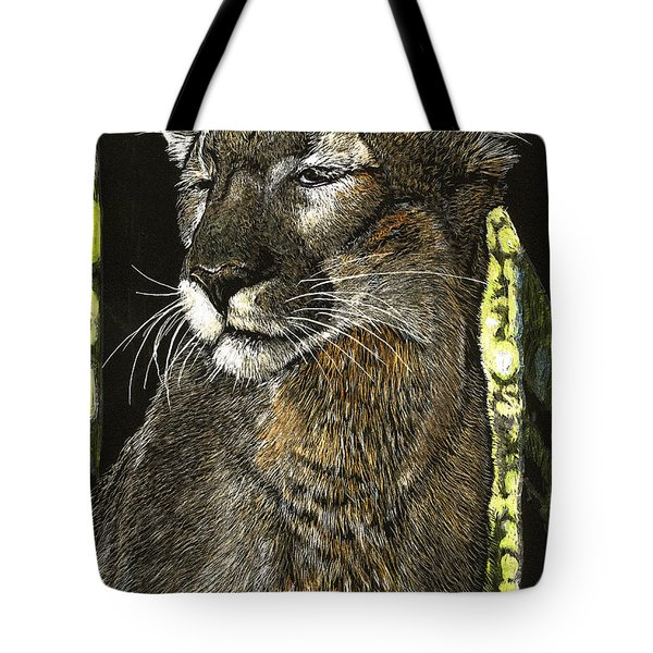 Panther Contemplates Tote Bag