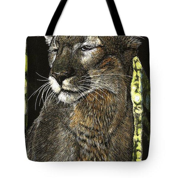 Panther Contemplates Tote Bag