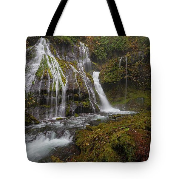 Panther Creek Falls In Autumn Tote Bag by David Gn