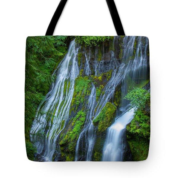 Panther Creek Falls Summer Waterfall 1 Tote Bag