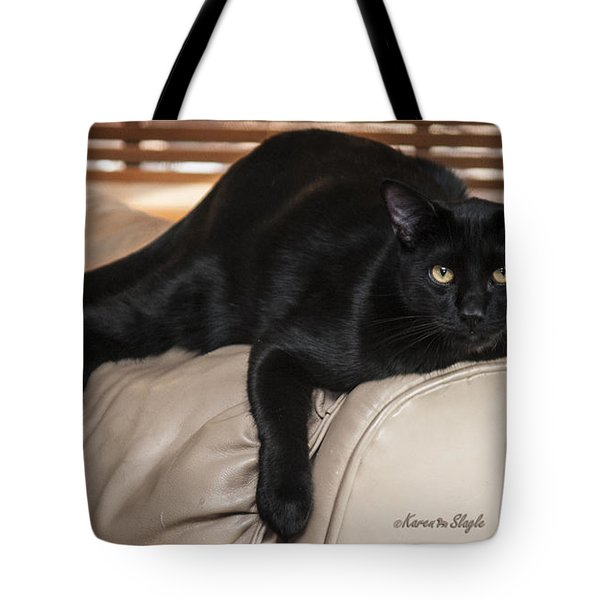 Panther Tote Bag by Karen Slagle