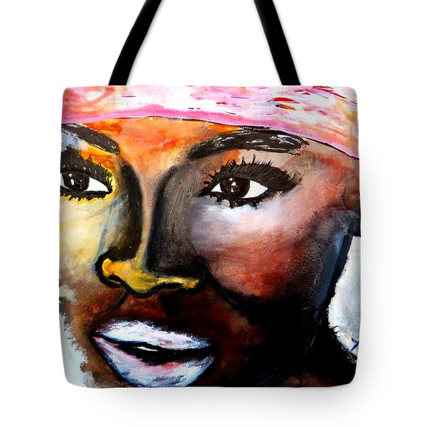 Tote Bag featuring the painting Paola by Tarra Louis-Charles