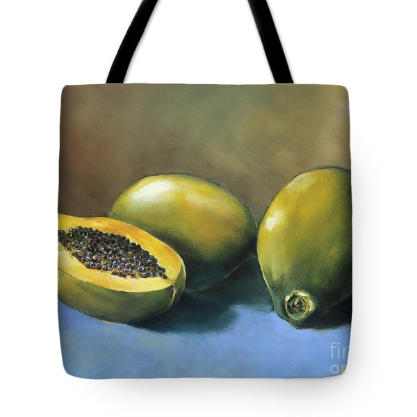 Papaya Tote Bag by Han Choi - Printscapes