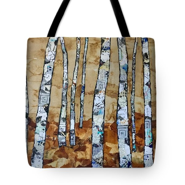 Paper Birch 3 Tote Bag