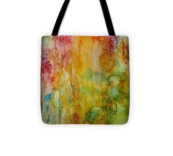 Paper Flowers Tote Bag by Rosie Brown