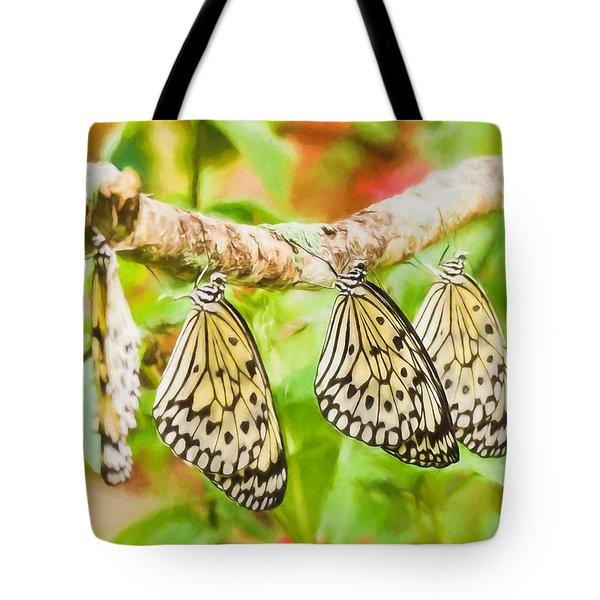 Paper Kite Butterflies Tote Bag