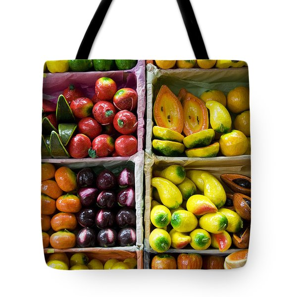 Paper Mache Fruits Tote Bag by Gloria & Richard Maschmeyer - Printscapes