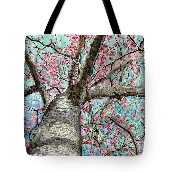 Tote Bag featuring the mixed media Paper Magnolias by Shawna Rowe