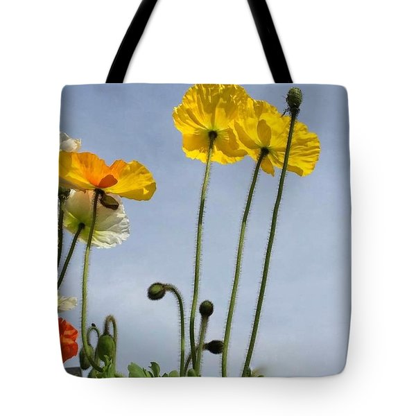 Paper Poppies Tote Bag