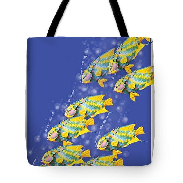 Paper Sculpture Fish Tote Bag