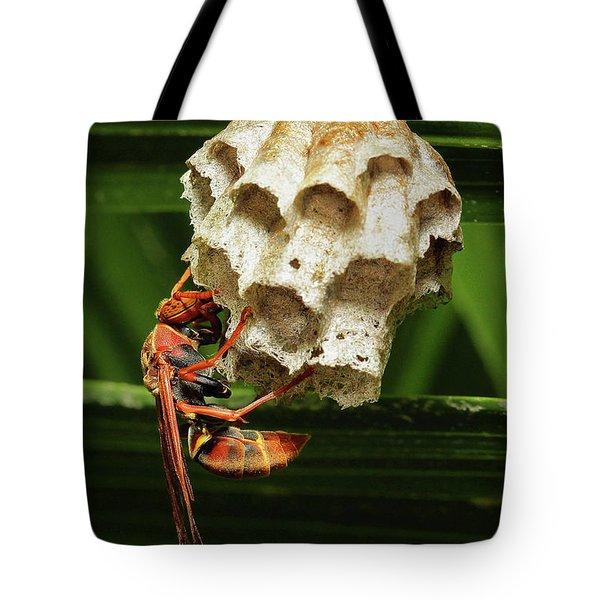 Paper Wasps 00666 Tote Bag