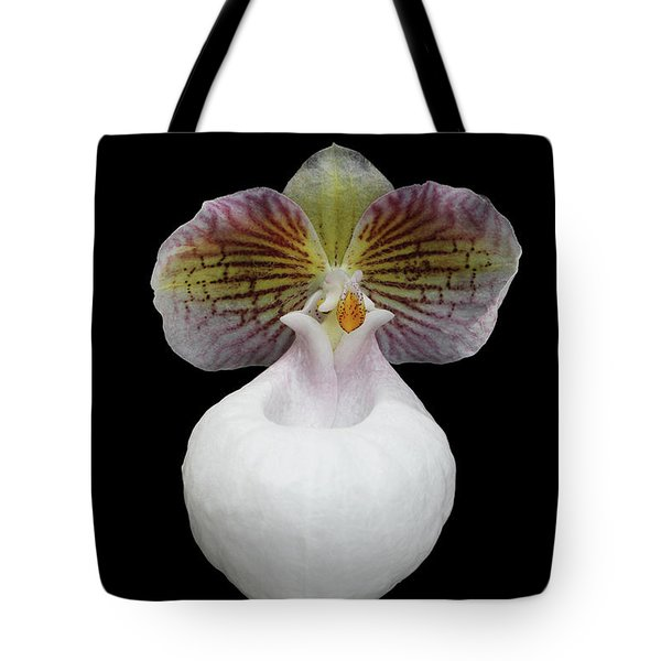 Paphiopedilum Micranthum Eburneum Orchid Tote Bag