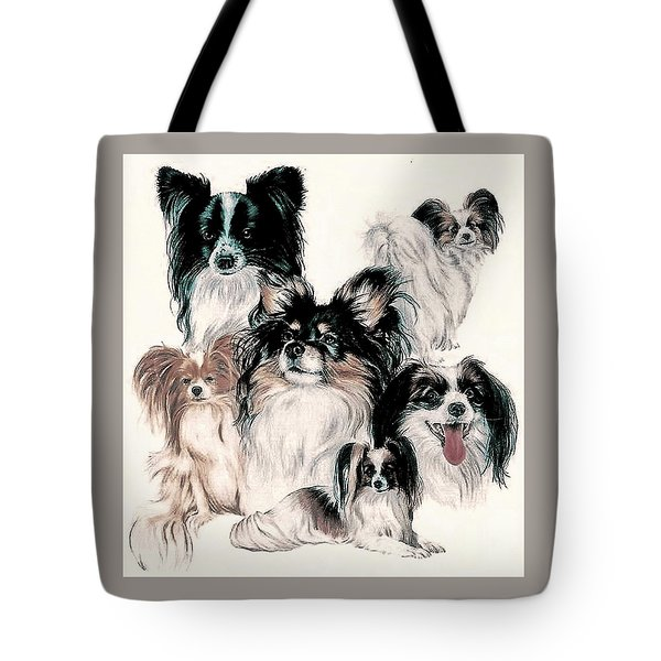 Papillon And Phalene Collage Tote Bag
