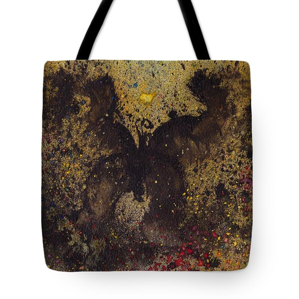 Tote Bag featuring the painting Papillon Noir - Dark Butterfly - Mariposa Negra by Marc Philippe Joly