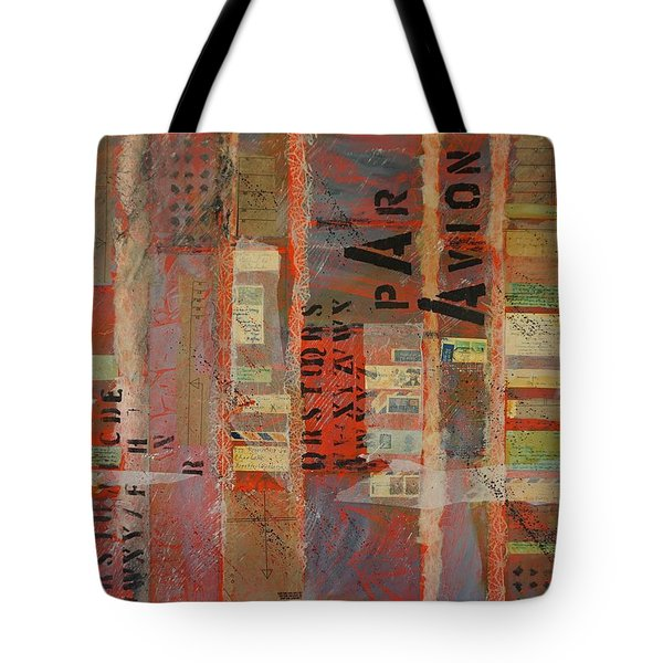 Tote Bag featuring the painting Par Avion by Jillian Goldberg