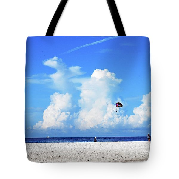 Tote Bag featuring the photograph Para Sailing On Siesta Key by Gary Wonning