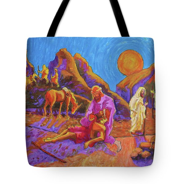 Parables Of Jesus Parable Of The Good Samaritan Painting Bertram Poole Tote Bag by Thomas Bertram POOLE