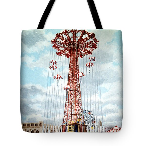 Parachute Jump In Coney Island New York Tote Bag