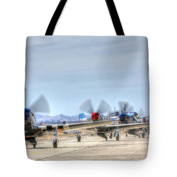Parade Of Mustangs Tote Bag