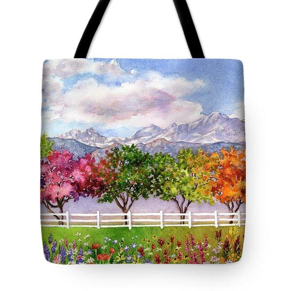 Parade Of The Seasons Tote Bag
