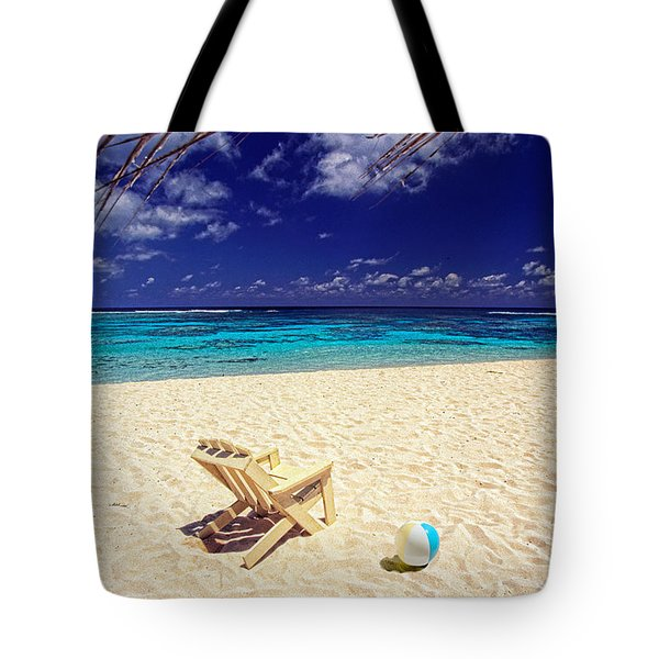 Paradise Beach Ball Tote Bag
