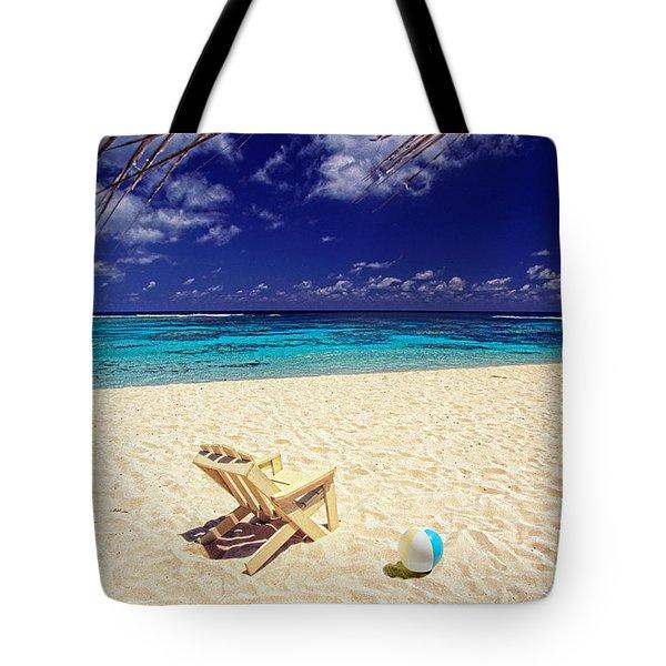 Paradise Beach Ball Tote Bag
