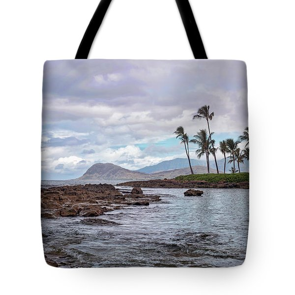 Paradise Cove Lagoon Tote Bag by Heather Applegate