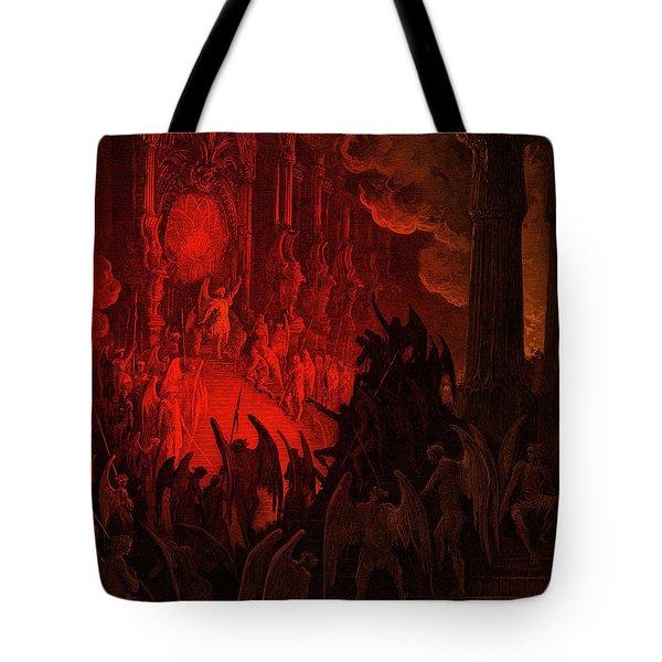 Paradise Lost  Satan In Council Tote Bag