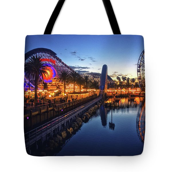 Paradise Pier Sunset Tote Bag