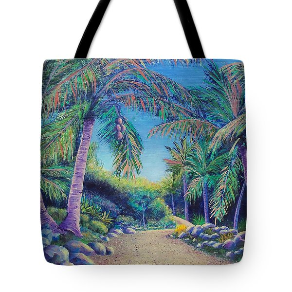 Tote Bag featuring the painting Paradise by Susan DeLain